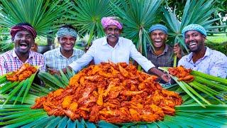 Download PALM LEAF CHICKEN | Chicken Fry Recipe Cooking In Village | Traditional Palm Leaf Chicken Recipe