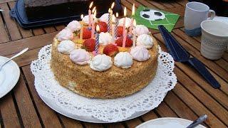 Медовый торт.Германский рецепт торта.Медовик.часть 1