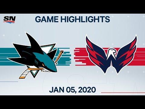 NHL Highlights   Sharks vs. Capitals – Jan. 5, 2020