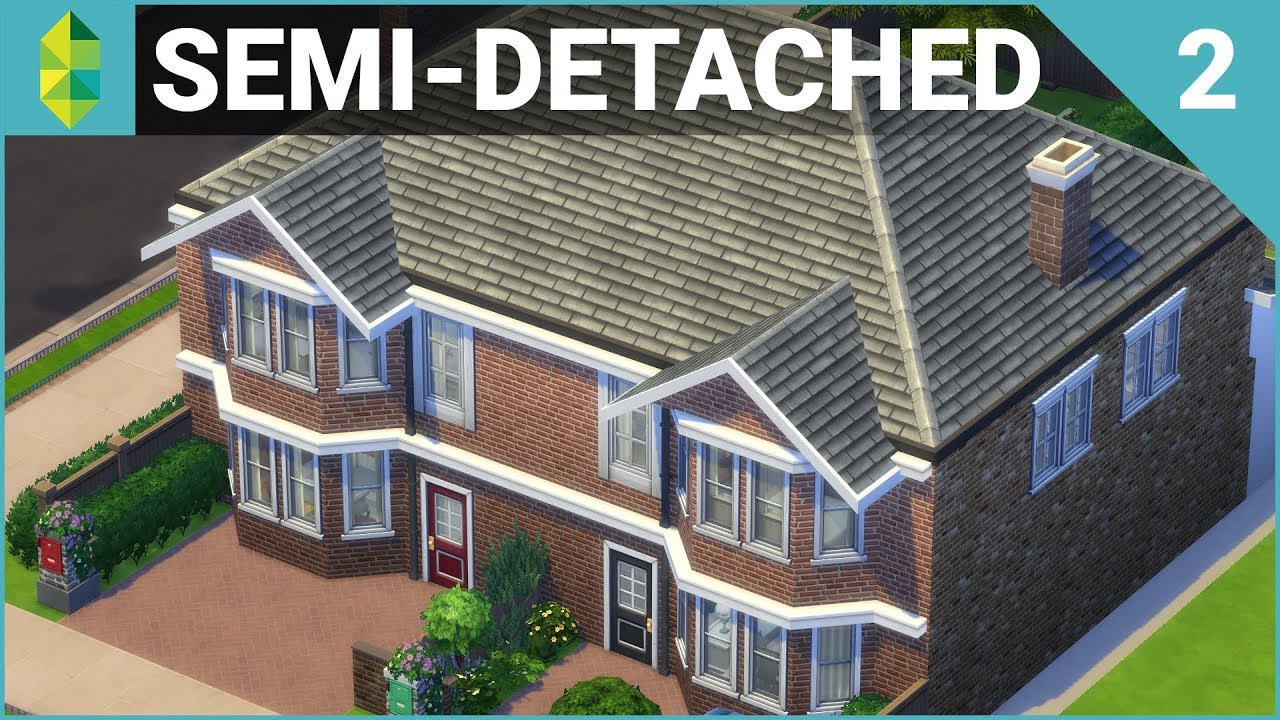 Parts of the house english language youtube - Semi Detached British Home Part 2 The Sims 4 House Building