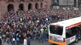 """Flashmob in Mainz """"Schrei nach Liebe"""""""
