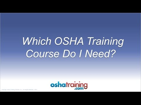 Free OSHA Training Tutorial - Which OSHA Training Course Do I Need ...