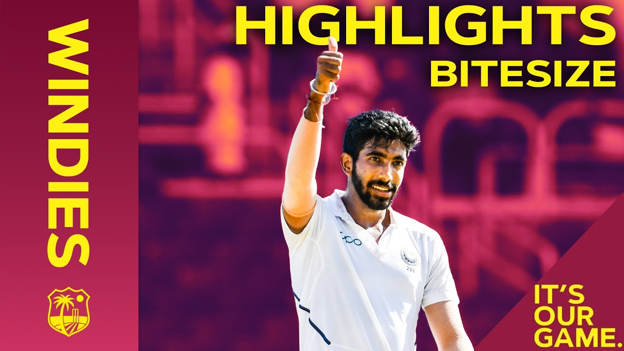 Windies vs India 2nd Test Day 2 2019 | Bitesize Highlights