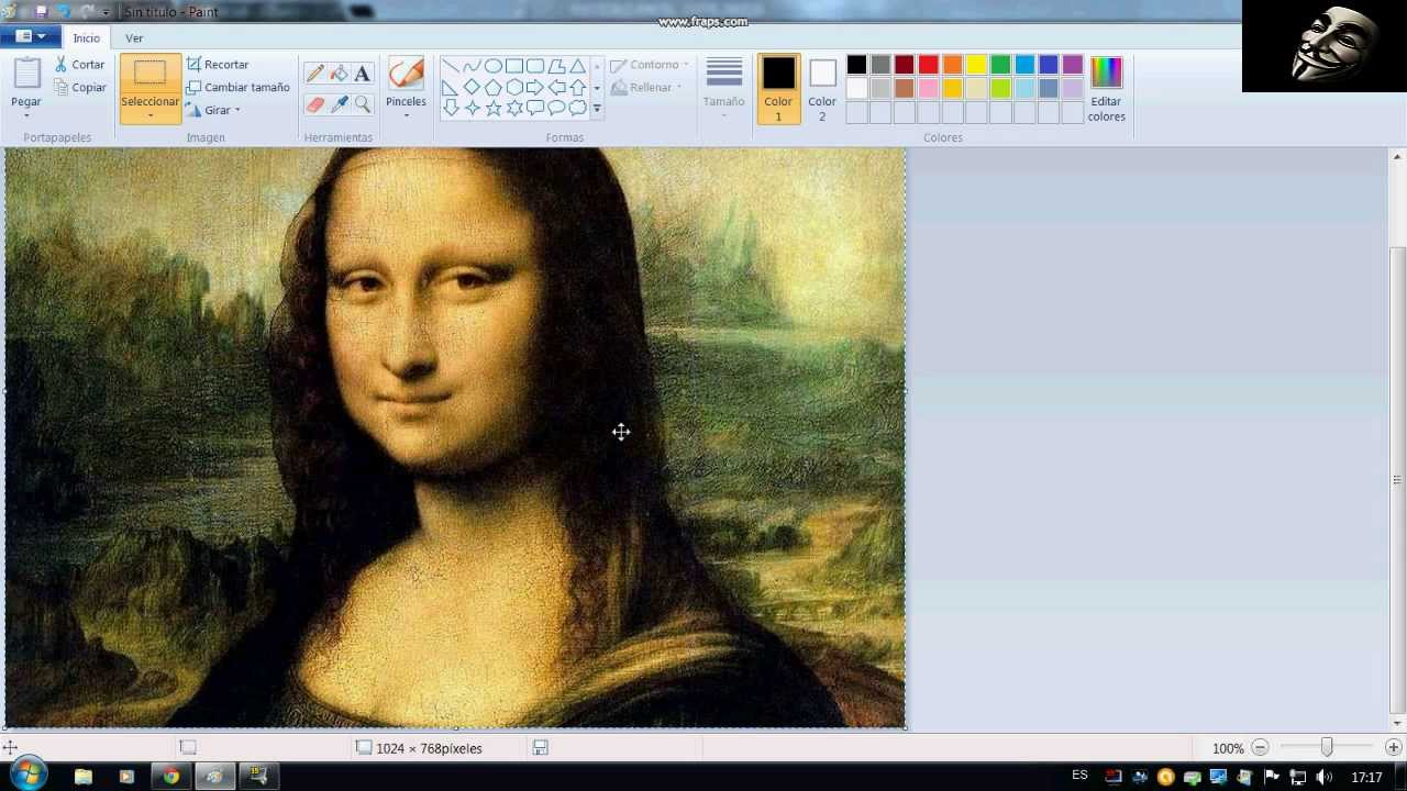 Como Dibujar A La Mona Lisa En Paint !
