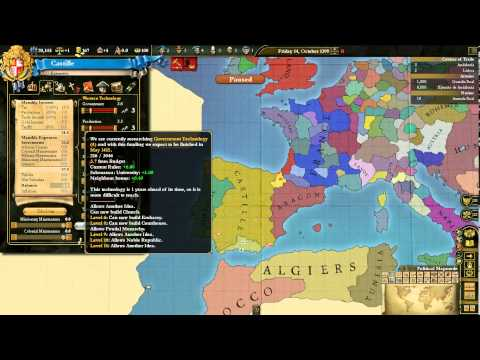 Europa Universalis 3: Divine Wind Tutorial - Economy III, Technology & Military I (7/25)