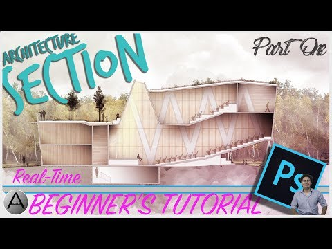 Beginners Guide to Rendered Architecture Sections in Photoshop - Part One
