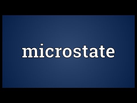Microstate Meaning