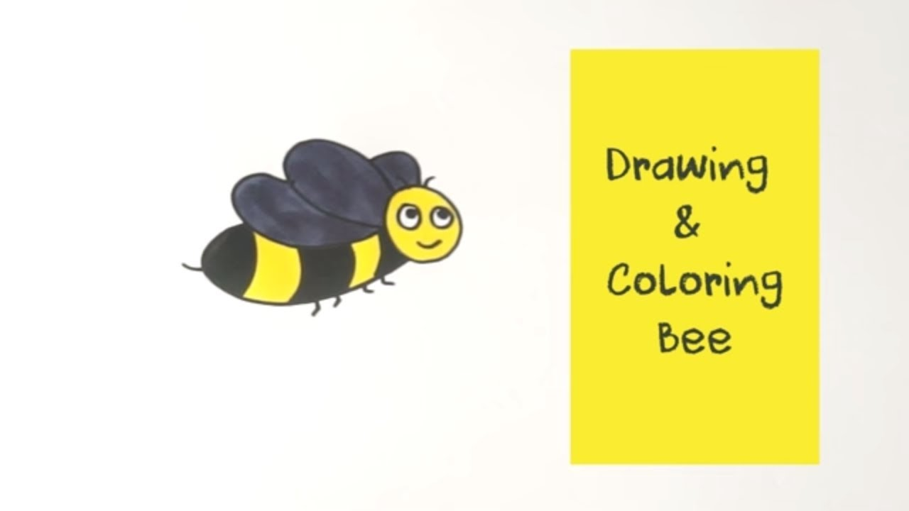 how to draw bee coloring pages youtube videos kids learning