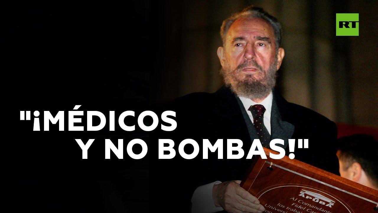 Discurso de Fidel Castro sobre los médicos cubanos que trabajan por el mundo