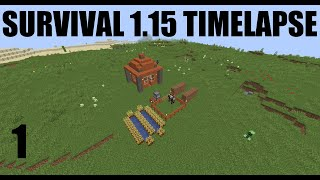 Mining & Building first House - Minecraft 1.15 survival timelapse Ep.1