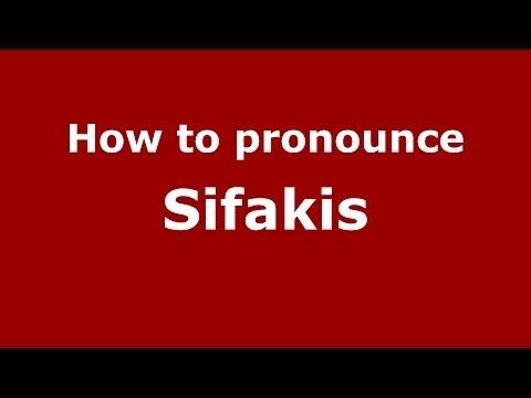 How to Pronounce Sifakis - PronounceNames.com