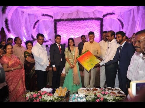 Hon'ble chief minister of Andhra pradesh @ Ganni's Engagement