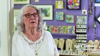 Artist Joyce Samuel at Abingdon's Arts Depot