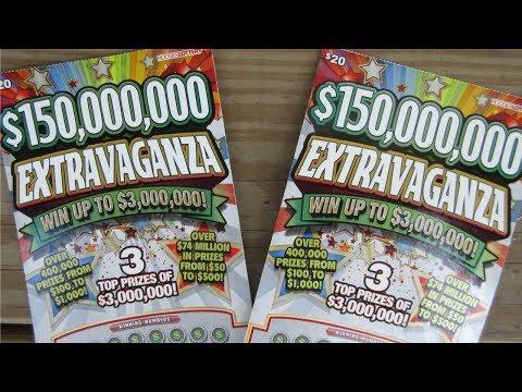WINNER!! $150,000,000 EXTRAVAGANZA SCRATCH OFF LOTTERY TICKETS!!