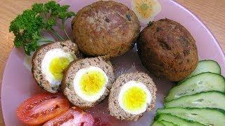 Яйца по-шотландски, или Бычий глаз / Scotch eggs recipe ♡ English subtitles