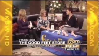 Good Feet Stores New York WKBW TV plantar fasciitis foot pain arch supports pain relief