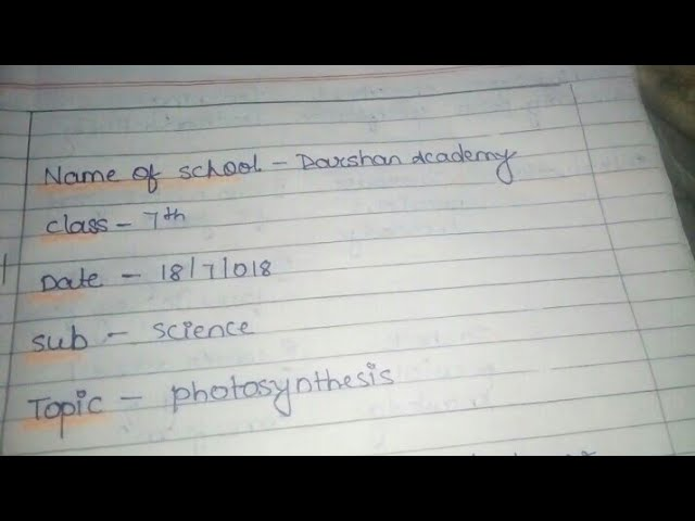 Photosynthesis lesson plan/science lesson plan/b.ed lesson plan/ nios lesson plan