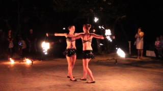 Огненое Фаер шоу на свадьбе 23.08.15 arthall.od.ua