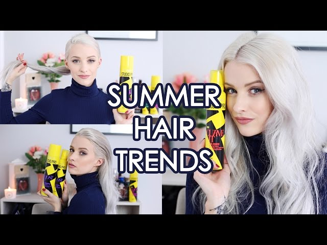 3 Summer Trend Hairstyles Tutorial   Inthefrow   ad