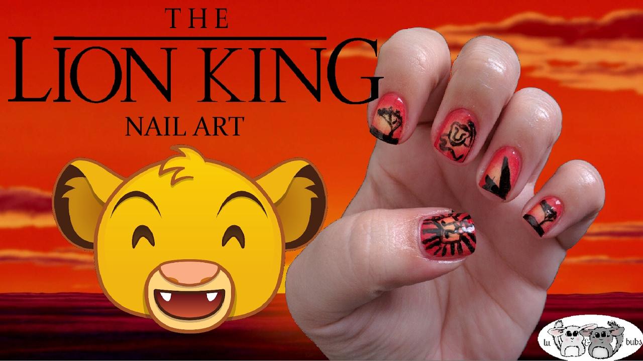 Lion King Nail Art Tutorial - YouTube