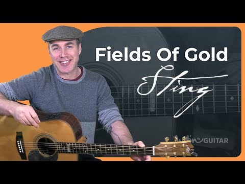Sting - Fields Of Gold (Easy Songs Beginner Guitar Lesson BS-803) How To Play