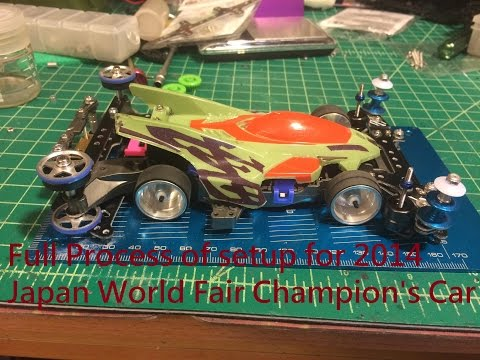 Tamiya Mini 4wd build up process From 2014 Japan World Fair champion Setup Part 1/2