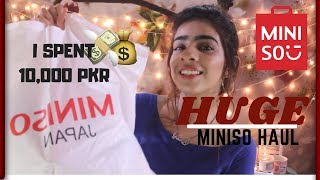 HUGE MINISO HAUL | YusraSolangi