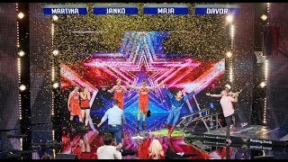Golden Buzzer at Supertalent Croatia | Dunking Devils