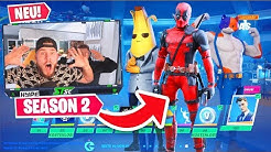 der *NEUE* SEASON 2 BATTLE PASS in Fortnite mit DEADPOOL!