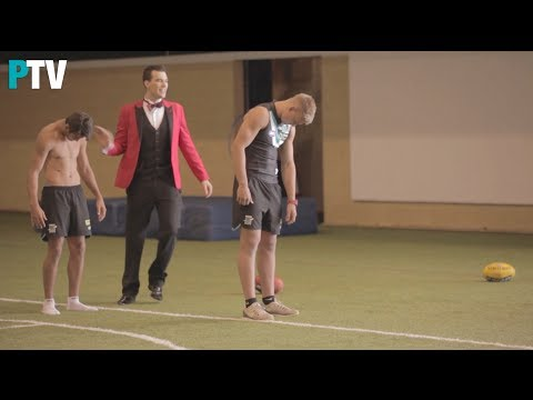 Port Adelaide players get hypnotised - Chad Wingard, Ollie Wines and Daniel Flynn