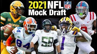 My 2021 NFL 1st Round Mock Draft + Player Highlights