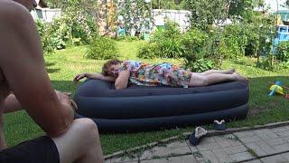 ВЛОГ Надувная кровать