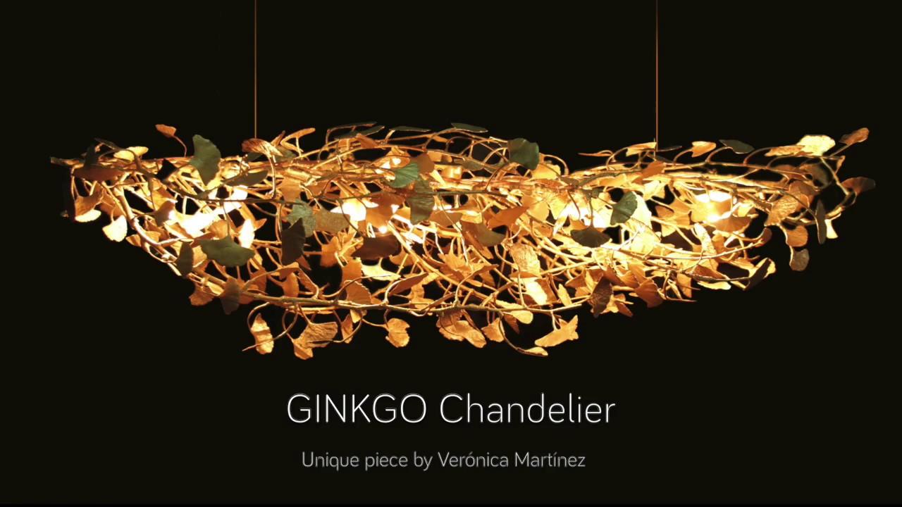 Ginkgo Sculpture Chandelier By Verónica Martínez