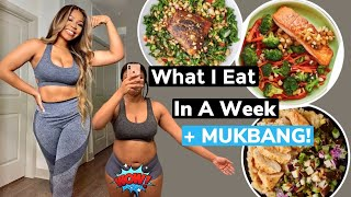 WHAT   EAT  N A WEEK TO LOSE WE GHT \u0026 BE HEALTHY  MUKBANG GREEN CHEF