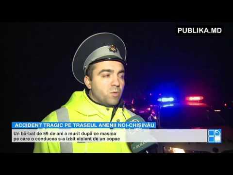 TRAGEDIE pe traseul Anenii Noi - Chișinău! Un bărbat a murit pe loc în urma unui GRAV accident