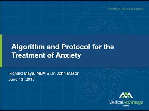 Algorithm for Treatment of Anxiety