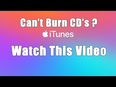 Can't Burn CD's In ITunes?  Watch This..