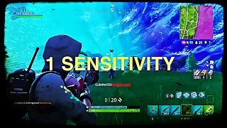 FORTNITE 1 SENSITIVITY CHALLENGE! CAN WE GET A KILL?