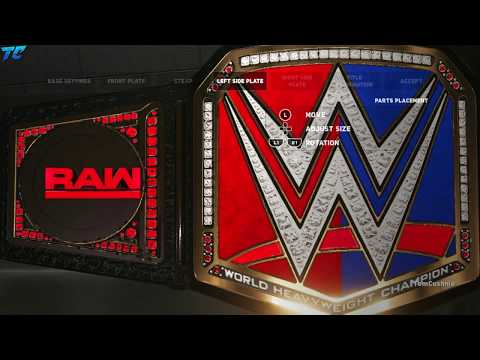 WWE SmackDown Vs Raw CHAMPIONSHIP BELT WWE 2K18!