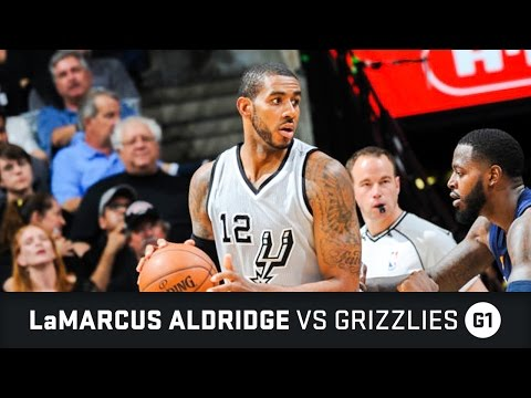LaMarcus Aldridge Highlights: 20 PTS, 2 AST vs Grizzlies First Round Game 1 (15.04.2017)