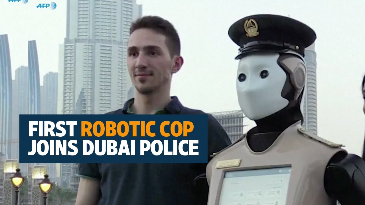 First Robotic Cop Joins Dubai Police Youtube