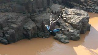 Divers into Crocodile-Infested Waters Kenya - Kerio, Meru, Iten