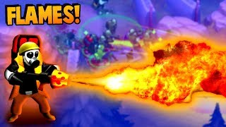 FLAME THROWERS are AMAZING!  Base Defense Upgrades (Guns Up! Gameplay)