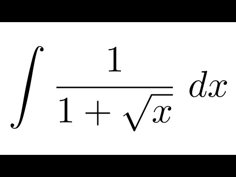 Integral of 1/(1+sqrt(x)) (substitution)