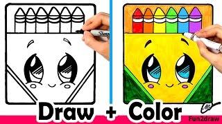 Wie Zeichnen Sie eine Kreide-Box Süß + Einfach | Fun2draw