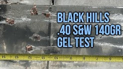 40 S&W Gel Test: Black Hills 140gr TAC-XP Solid Copper Hollow Point