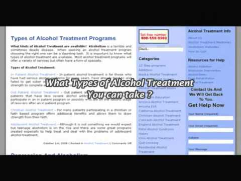 Types of Alcohol Treatment Programs
