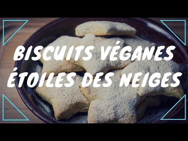Étoiles de neiges, biscuits véganes
