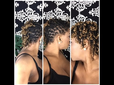 Side Swept Pipe Cleaner Curls With Twisties Dreadlock