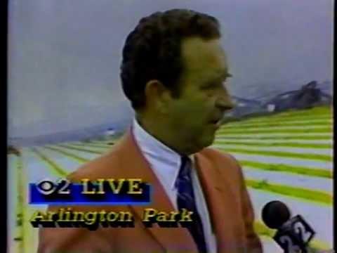 Arlington Park Race Track Fire 1985  WBBM TV 2 News Report
